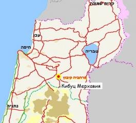 Кибуц Мерхавия карта 2