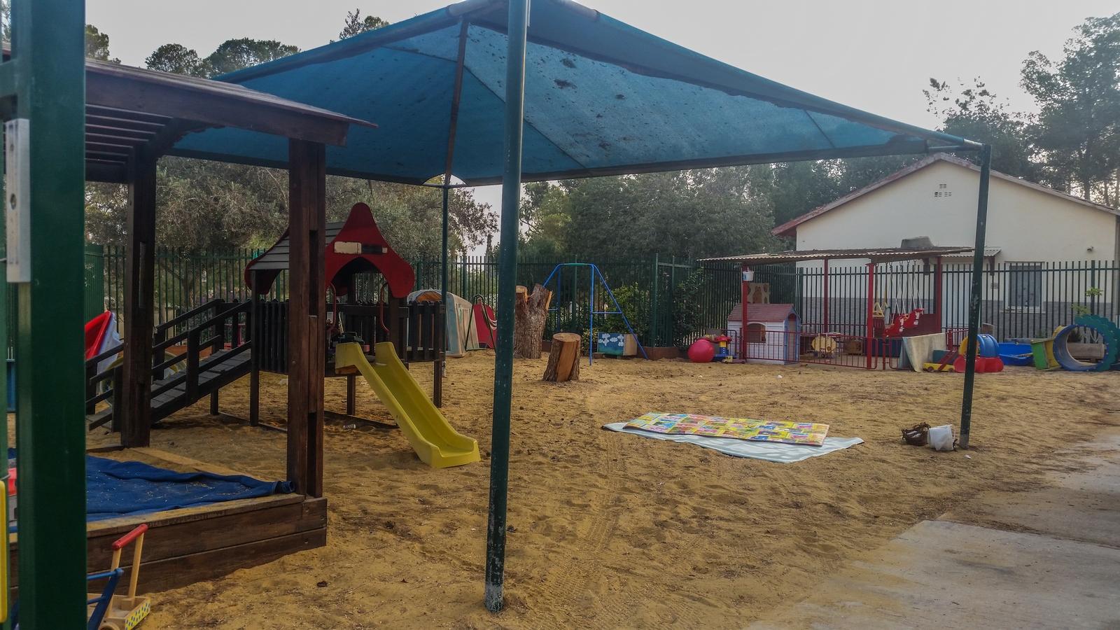 Игровая площадка детского садика в кибуце Ревивим