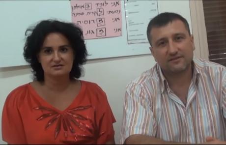 Гроховецкие Назар и Лада репатриировались с дочерью Евой из города Кривой Pог в кибуц Леавот Абашан в декабре 2012 года.
