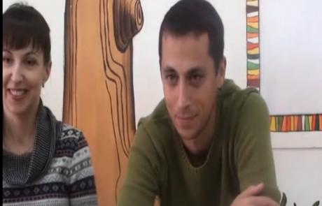 Андрей и Ирина Луц репатриировались с сыном Даниилом из Запорожья в кибуц Мерхавия 4.9.2012