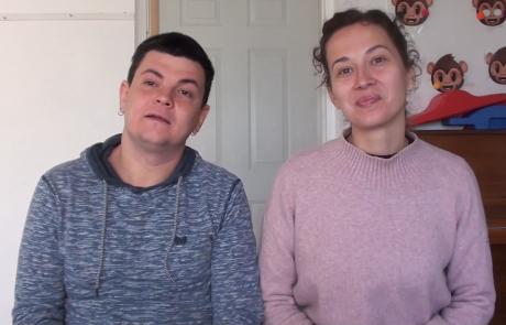 Антон и Ася Кошелевы репатриировались с дочками Леей (1 год) и Ксенией (9 лет) из Санкт-Петербурга в кибуц Неот Мордехай в октябре 2020 года по программе «Первый дом на Родине»