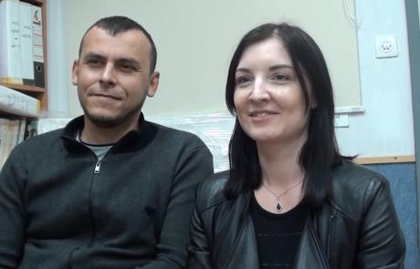 Плечун Егор и Ольга репатриировались с дочерью Миланой в феврале 2019 года из Запорожья в кибуц Хукук по программе Первый дом на Родине