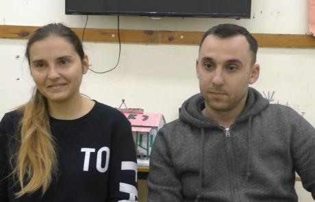 Мелешины Евгений и Анастасия с сыном репатриировались в ноябре 2018 года по программе «Первый дом на Родине» из Одессы в кибуц Мерхавия