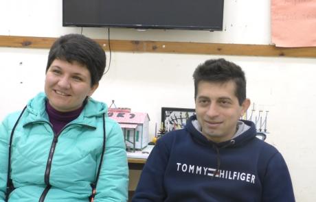 Шкляр Ростислав и Ольга  с дочерью репатриировались в ноябре 2018 года  из Бобруйска по программе «Первый дом на Родине» в кибуц Мерхавия: