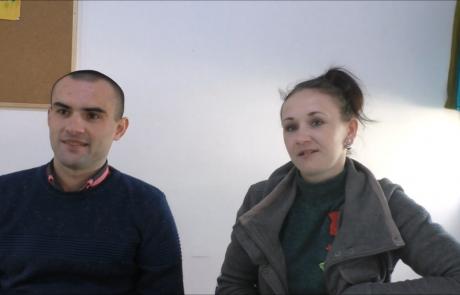 Одноворченко Михаил и Дарья с дочерью репатриировались в ноябре 2018 года по программе «Первый дом на Родине» из Бахмута в кибуц Ревивим :