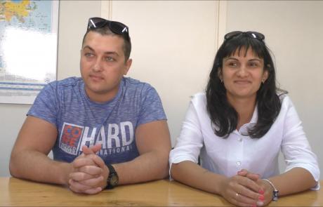Самойловы Константин и Юлия репатриировались с сыном в декабре 2017 года по программе «Первый дом на Родине» из Харькова в кибуц Лотан