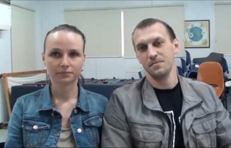 Сергей Козинченко и Лидия Прегер с 2 детьми репатриировались  в марте 2016 года из Калининграда в кибуц Ашдот Яков