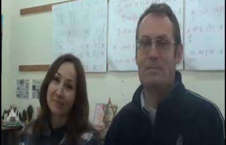 Ирина Альховик и Юрий Шефель, врачи, репатриировальсь с двумя детьми из Гомеля в Августе 2012 года в кибуц Мерхавия в рамках программы для врачей с 14-летним и более стажем.