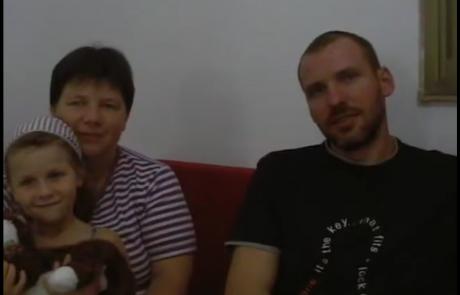 Людмила и Дмитрий Пишоха репатриировались с дочерью Анастасией в августе 2009 года из Киева в кибуц Цээлим в районном совете Эшколь